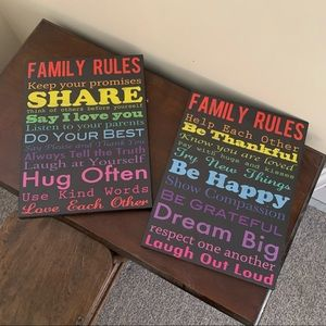 BUNDLE OF 2 Home Decor Canvases